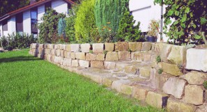 Obernkirchener Sandstein 20-40 Trockenmauer